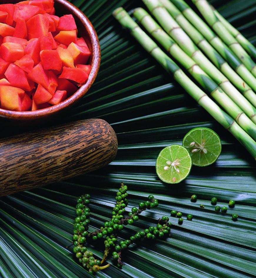 ingredienst-on-leaf